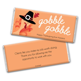 Personalized Thanksgiving Gobble Gobble Chocolate Bar Wrappers Only