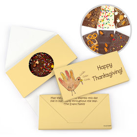 Personalized Handprint Turkey Thanksgiving Gourmet Infused Belgian Chocolate Bars (3.5oz)