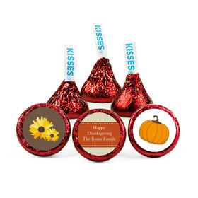 Personalized Thanksgiving Fall Harvest Hershey's Kisses (50 pack)