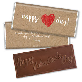 Personalized Valentine's Day Drawn to You Embossed Chocolate Bar
