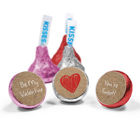 Valentine's Day Love Mix Hershey's Kisses Red Heart Assembled Kisses (50 Pack)