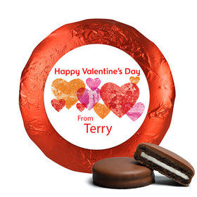 Valentine's Day Marble Hearts Chocolate Covered Red Foil Oreos (24 Pack)