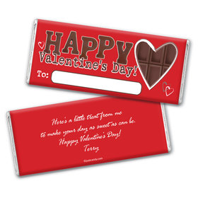 Chocolate Valentine Candy Bar Personalized Candy Bar - Wrapper Only