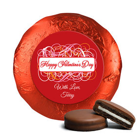 Valentine's Day Swirls Chocolate Covered Red Foil Oreos
