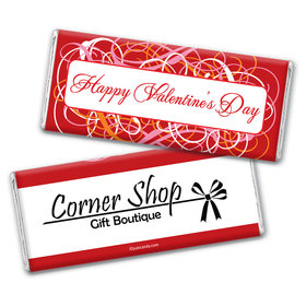 Valentine Multi Swirls Candy Bar& Wrapper Personalized Candy Bar - Wrapper Only