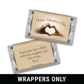Valentine's Day Personalized HERSHEY'S MINIATURES Wrappers Hands Make a Heart