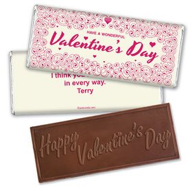 It's Time Valentine Candy Bar & Wrapper Personalized Chocolate Bar Assembled