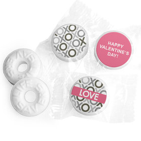 Valentine's Day Personalized Life Savers Mints Tiny Hearts Pattern (300 Pack)