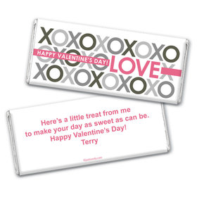 Pattern Heart Wrapper & Candy Bar Personalized Candy Bar - Wrapper Only