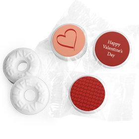 Valentine's Day Personalized Life Savers Mints X's and O's in Love