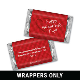 Valentine's Day Personalized HERSHEY'S MINIATURES Wrappers X's and O's in Love