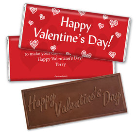The Heart Dance Candy Bar & Wrapper Personalized Chocolate Bar Assembled