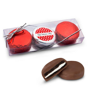 Valentine's Day Little Hearts 3Pk Belgian Chocolate Covered Oreo Cookies