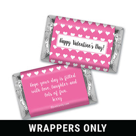 Hearts Parade Personalized Miniature Wrappers