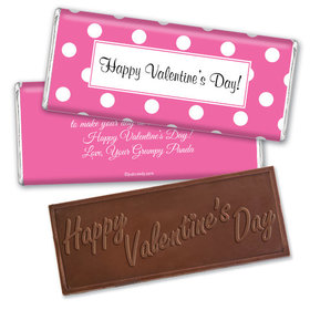 Valentine Dots Wrapper & Candy Bar Personalized Chocolate Bar Assembled