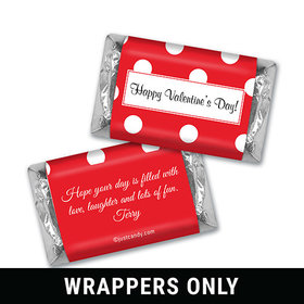 Valentine Dots Personalized Miniature Wrappers