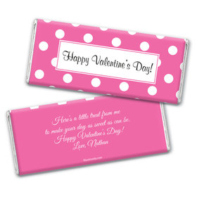 Valentine Dots Wrapper & Candy Bar Personalized Candy Bar - Wrapper Only
