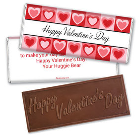Hearty Fun Wrapper & Candy Bar Personalized Chocolate Bar Assembled