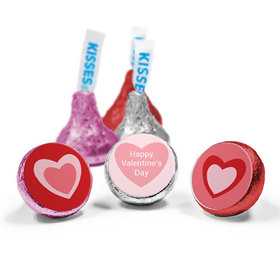 Valentine's Day Love Mix Hershey's Kisses Pink Hearts Assembled Kisses (50 Pack)