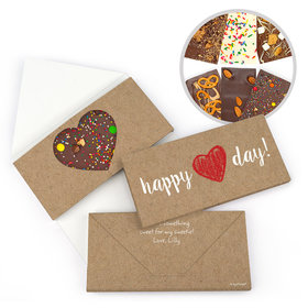Personalized Hand Drawn Heart Valentine's Day Gourmet Infused Belgian Chocolate Bars (3.5oz)