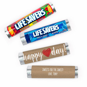 Personalized Valentine's Day Happy Heart Day Lifesavers Rolls (20 Rolls)