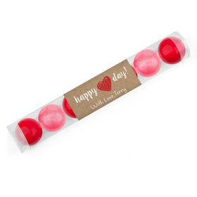 Personalized Valentine's Day Drawn Heart Gumball Tube