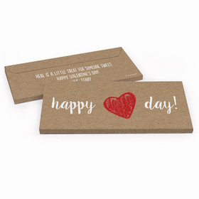 Deluxe Personalized Hand Drawn Heart Valentine's Day Candy Bar Cover