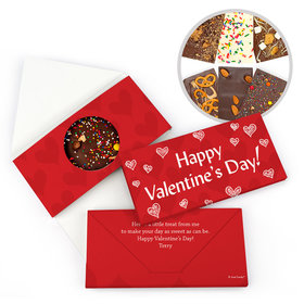 Personalized Scribble Heart Valentine's Day Gourmet Infused Chocolate Bars (3.5oz)