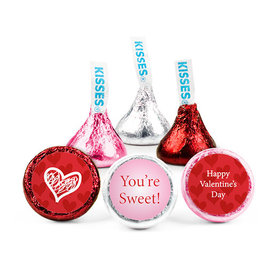 Personalized Valentine's Day Scribble Heart Hershey's Kisses (50 pack)