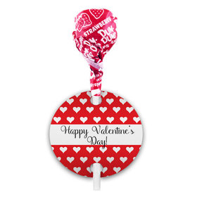 Little Hearts Valentine's Day Dum Dums with Gift Tag (75 pops)