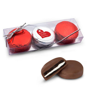 Valentine's Day 3Pk Belgian Hanging Hearts Chocolate Covered Oreo Cookies