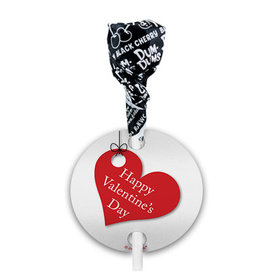 Hanging Hearts Valentine's Day Dum Dums with Gift Tag (75 pops)