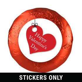 "Valentine's Day Hanging Hearts 1.25"" Stickers (48 Stickers)"