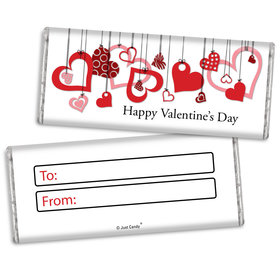 Fill in the Blank Valentine's Day Hanging Hearts Chocolate Bar & Wrapper