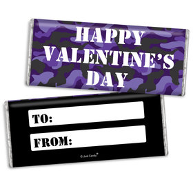 Fill in the Blank Valentine's Day Camo Chocolate Bar & Wrapper