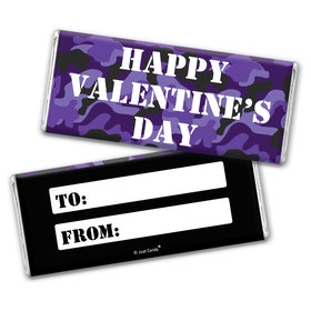 Fill in the Blank Valentine's Day Camo Chocolate Bar Wrappers