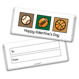 Fill in the Blank Valentine's Day Sports Chocolate Bar Wrappers