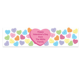 Valentine's Day Candy Hearts Banner