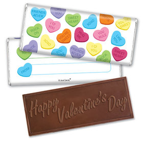 Fill in the Blank Valentine's Day Messages Embossed Chocolate Bar & Wrapper