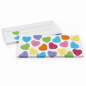 Deluxe Personalized Conversation Hearts Valentine's Day Candy Bar Cover