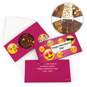 Personalized Emoji Valentine's Day Gourmet Infused Chocolate Bars (3.5oz)