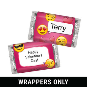 Personalized Valentine's Day Emoji Hershey's Miniatures Wrappers