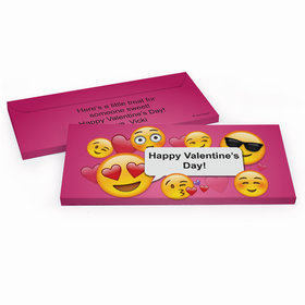Deluxe Personalized Emoji Valentine Valentine's Day Candy Bar Cover