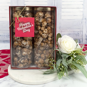 Personalized Valentine's Day Gourmet Popcorn 2pk Gift Box with Tag