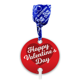 Script Heart Valentine's Day Dum Dums with Gift Tag (75 pops)