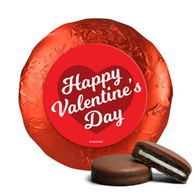 Valentine's Day Script Heart Chocolate Covered Oreos