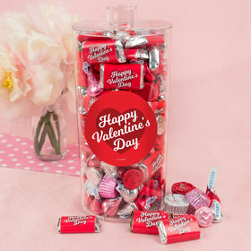 Valentine's Day Script Heart Canister 2 lb