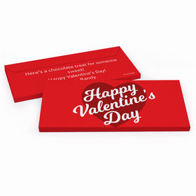 Deluxe Personalized Script Heart Valentine's Day Candy Bar Cover
