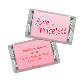 Personalized Valentine's Day Love is Priceless Hershey's Miniatures Candies