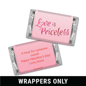 Personalized Valentine's Day Love is Priceless Miniatures Wrappers
